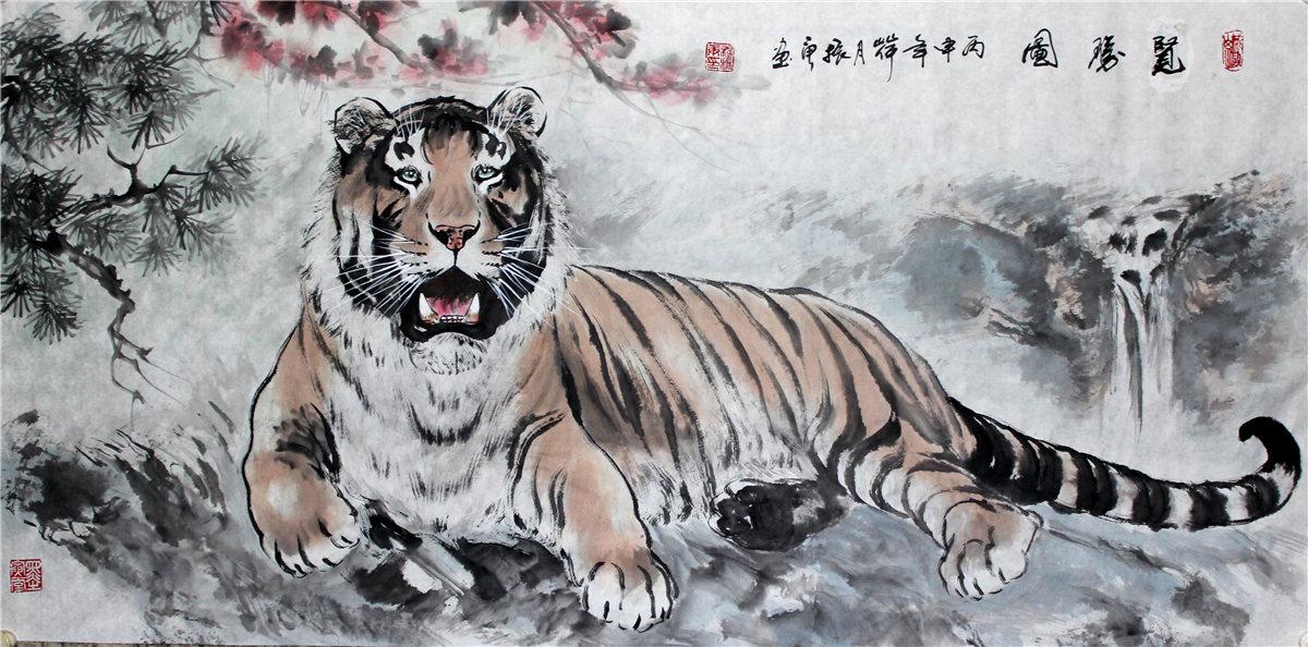 穆振庚作品:揽胜图